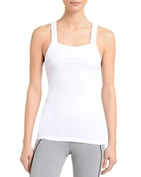 2Xist 2 X Ist Square Neck Ribbed Tank White