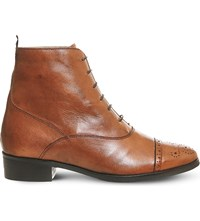 Office Barnaby Brogue Leather Boots Tan Leather