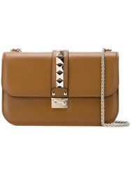 Valentino Garavani Glam Lock Shoulder Bag Brown
