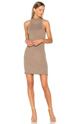 525 America Mock Neck Sweater Dress Taupe