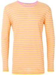 Ermanno Scervino Breton Stripe Top Pink And Purple