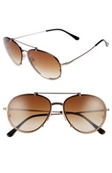 Tom Ford Women's Dickon 59Mm Aviator Sunglasses Rose Gold Brown Rose Gold Brown