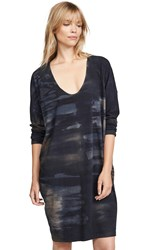 Raquel Allegra Raglan Dress Midnight Tie Dye