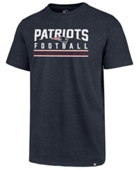 47 Brand '47 Men's New England Patriots Cover 4 T Shirt Navy Heather