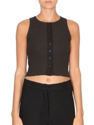 Ann Demeulemeester Sleeveless Cropped Top Black