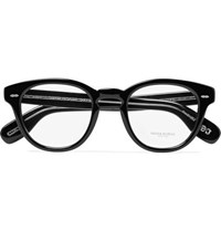 Oliver Peoples Cary Grant Round Frame Acetate Optical Glasses Black