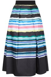 Damsel In A Dress Watercolour Stripe Skirt Multi Coloured