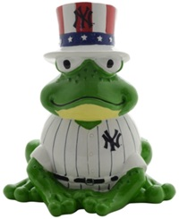 Forever Collectibles New York Yankees Thematic Frog Figure Navy