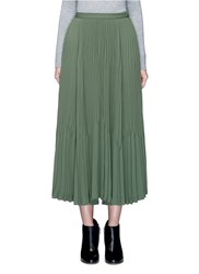 Theory 'Laire' Pleat Crepe Maxi Skirt Green
