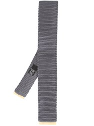 Hugo Boss Textured Tie Grey