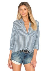 Paige Mable Button Up Blue