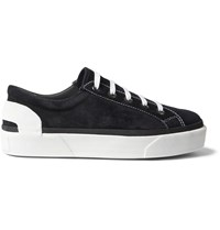 Lanvin Two Tone Suede Sneakers Blue