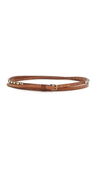 Donna Karan Studded Double Wrap Belt Brown