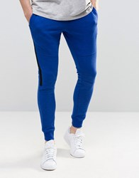 Jack And Jones Skinny With Contrast Panel Blue