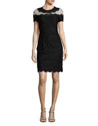 Decode 1.8 Eyelash Lace Bodycon Dress Black Nude