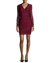 Laundry By Shelli Segal Long Sleeve Fitted Lace Dress