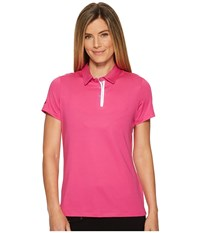 Skechers Go Golf Pitch Short Sleeve Polo Pink Women's Clothing