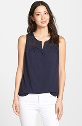 Women's Nydj Knit Tank With Eyelet Yoke