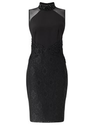 Ariella Jayla Short Lace Detail Dress Black