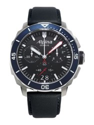 Alpina Seastrong Diver 300 Chronograph Watch Black