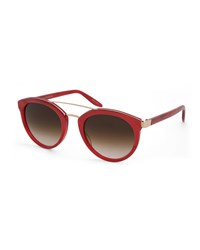 Barton Perreira Dalziel Gradient Cat Eye Sunglasses Red