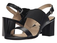 Adrienne Vittadini Panya Black Soft Calf Stretch Women's Sandals