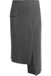 Joseph Kiki Wool Blend Skirt Gray