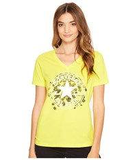Converse Daisy Chuck Patch V Neck Short Sleeve Tee Fresh Yellow Women's T Shirt