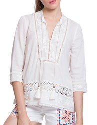 Plenty By Tracy Reese Embroidered Cotton Tunic Cosmetic