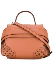 Tod's Studded Cross Body Bag Women Calf Leather One Size Brown