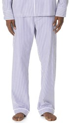 Sleepy Jones Bengal Stripe Pajama Pants Blue White