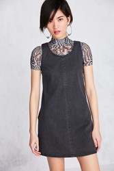 Bdg Scoop Neck A Line Denim Mini Dress Black