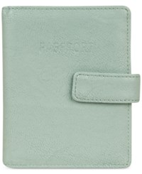 Kenneth Cole Reaction Deluxe Passport Wallet With Rfid Sea Glass