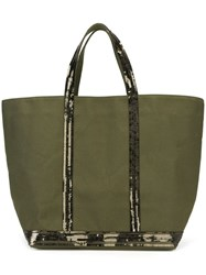 Vanessa Bruno Sequin Embellished Tote Green