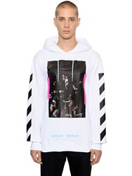 Off White Caravaggio Hooded Cotton Sweatshirt