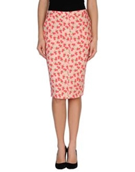 Normaluisa Knee Length Skirts Pink