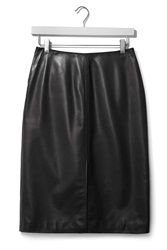 Midi Leather Split Skirt By Boutique Black