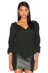 One Grey Day Sam Hooded Sweater Green