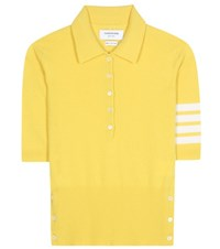 Thom Browne Cashmere Polo Shirt Yellow