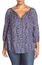 Plus Size Women's Caslon Henley Peasant Blouse