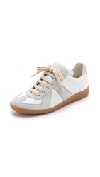 Maison Martin Margiela Leather And Suede Sneakers Off White