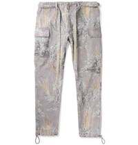 Fear Of God Tapered Printed Denim Cargo Trousers Gray