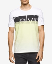 Calvin Klein Jeans Men's Graphic Print T Shirt White Wash