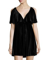 Minkpink Tell Tale Reversible Velvet Dress Black