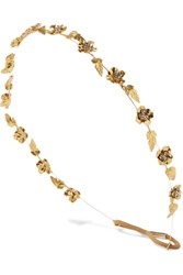 Jennifer Behr Margaux Gold Plated Swarovski Crystal Headband One Size
