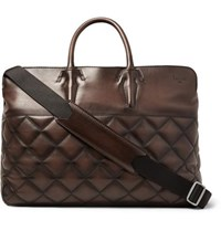 Berluti Cube Quilted Leather Holdall Brown