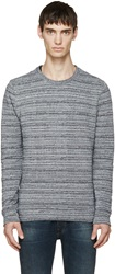 A.P.C. Navy Retro Jacquard Sweater