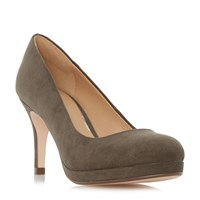 Linea Apley Platform Court Shoes Khaki