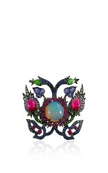 Lydia Courteille Opal And Ruby Ring Multi