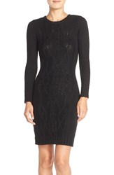 Women's Marc New York Cable Knit Sweater Body Con Dress